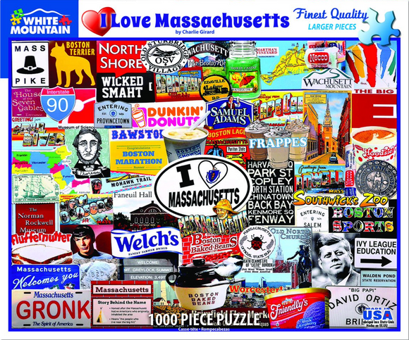 I Love Massachusetts (1000 pc puzzle)