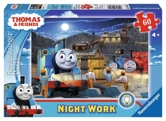 Thomas & Friends: Night Work (60 pc glow-in-the-dark puzzle)