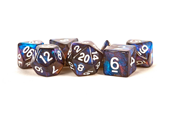 Metallic Dice Games Glitter 16mm Polyhedral Dice Set