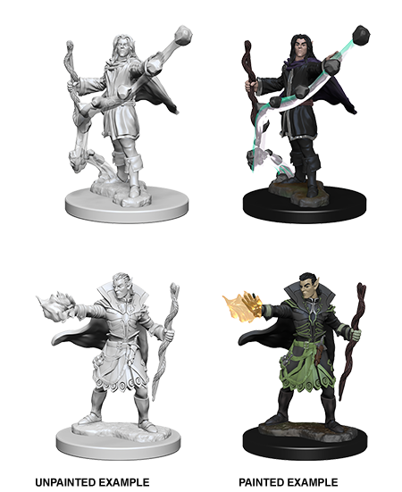 Pathfinder Deep Cuts Unpainted Miniatures: W1 Elf Male Sorcerer