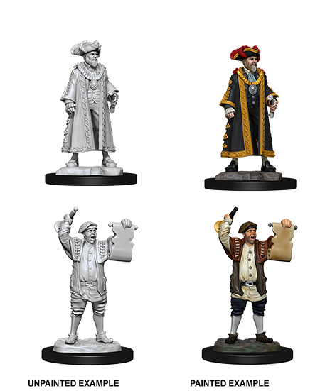 Pathfinder Deep Cuts Unpainted Miniatures: W10 Mayor & Town Crier