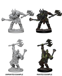 Pathfinder Deep Cuts Unpainted Miniatures: W3 Half-Orc Male Barbarian