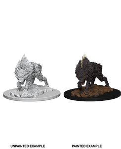 Pathfinder Deep Cuts Unpainted Miniatures: W4 Dire Wolf