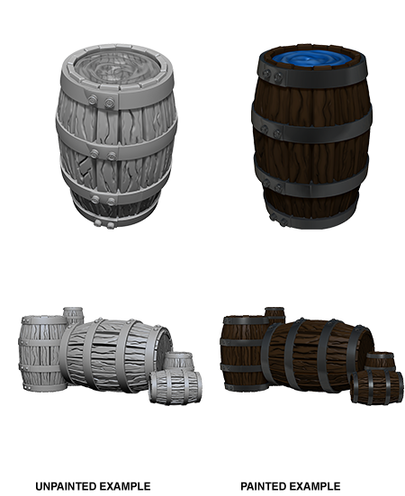 Pathfinder Deep Cuts Unpainted Miniatures: W5 Barrel & Pile of Barrels