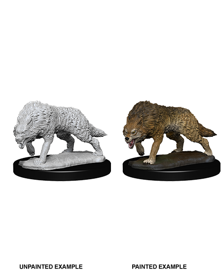 Pathfinder Deep Cuts Unpainted Miniatures: W7 Timber Wolves