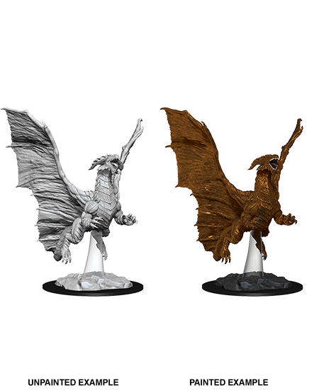 D&D Nolzur's Marvelous Unpainted Miniatures: W8 Young Copper Dragon