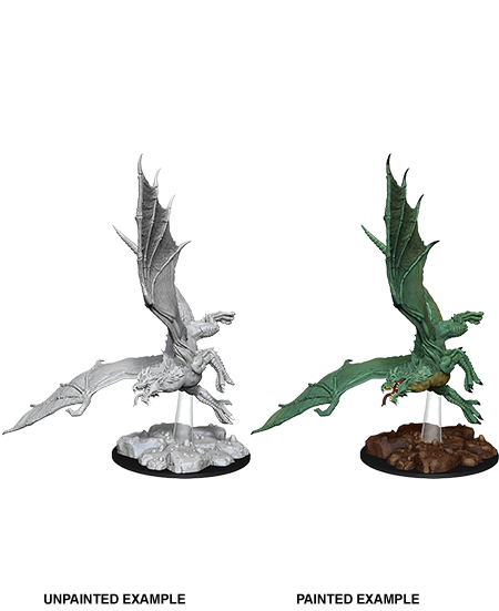 D&D Nolzur's Marvelous Unpainted Miniatures: W8 Young Green Dragon
