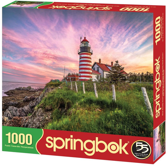 West Quoddy Head Lighthouse (1000 pc puzzle)