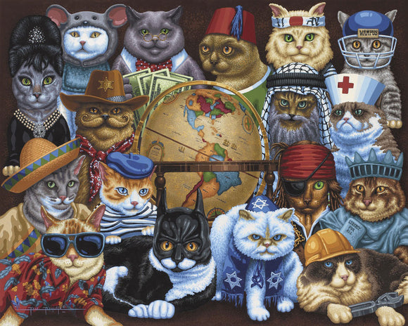Cats Around the World (100 pc puzzle)