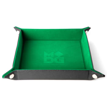 Velvet Folding Dice Tray with Leather Backing (assorted colors)