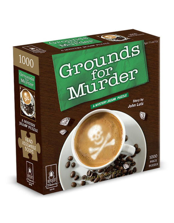 Grounds for Murder: A Mystery Jigsaw Puzzle (1000 pc puzzle)