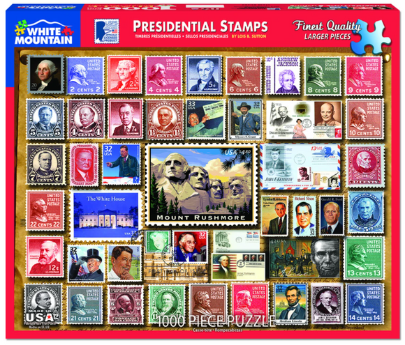 Presidential Stamps (1000 pc puzzle)