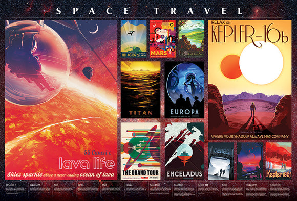 Space Travel Posters (2000 pc puzzle)