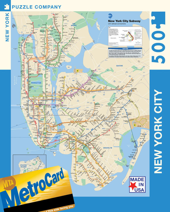 New York Subway Map (500 pc puzzle)
