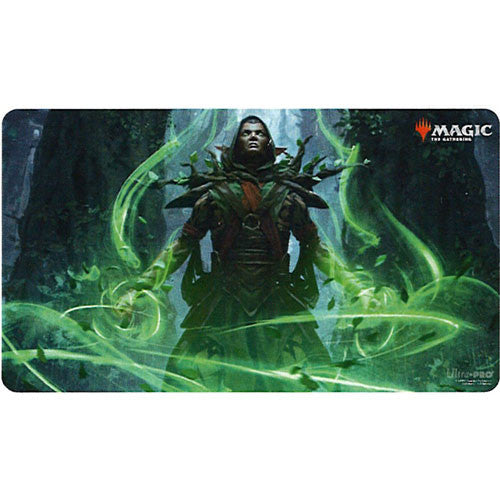 Magic: The Gathering 2021 playmat: Llanowar Visionary