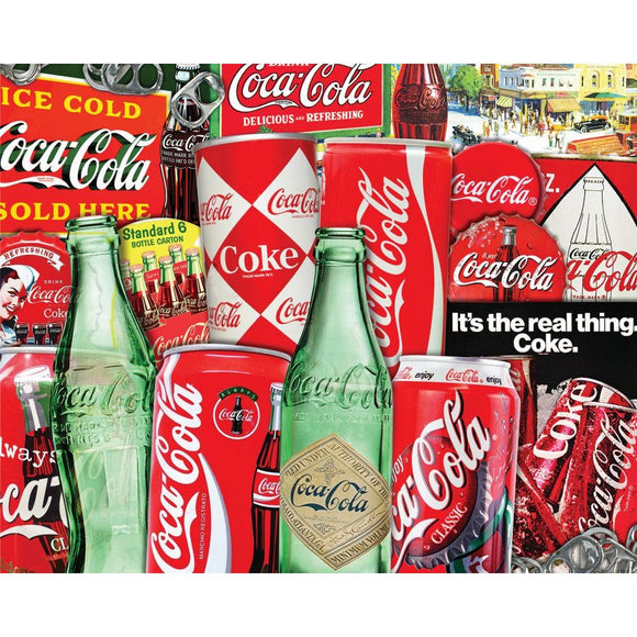 Coca Cola - Vintage Soda Cans (1000 pc puzzle)