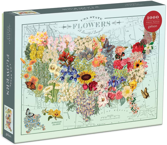 Wendy Gold USA State Flowers (1000 pc puzzle)