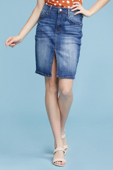 Judy Blue Pencil Denim Skirt