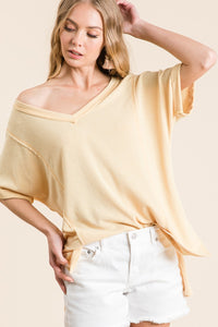 Mustard French Terry Top