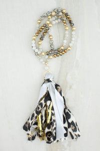 White Tassel Necklace