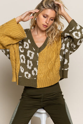 OLIVE/MUSTARD SWEATER