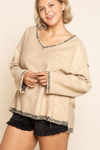 Reverse It Up French Terry Knit Top