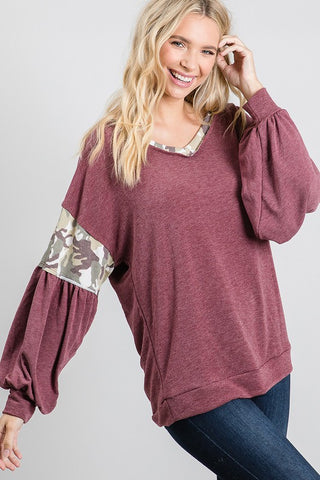 Lisa's Mauve Dolman Sleeve Top