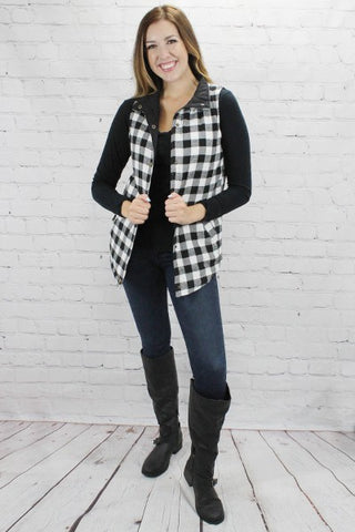 Buffalo Plaid Reversible Vest