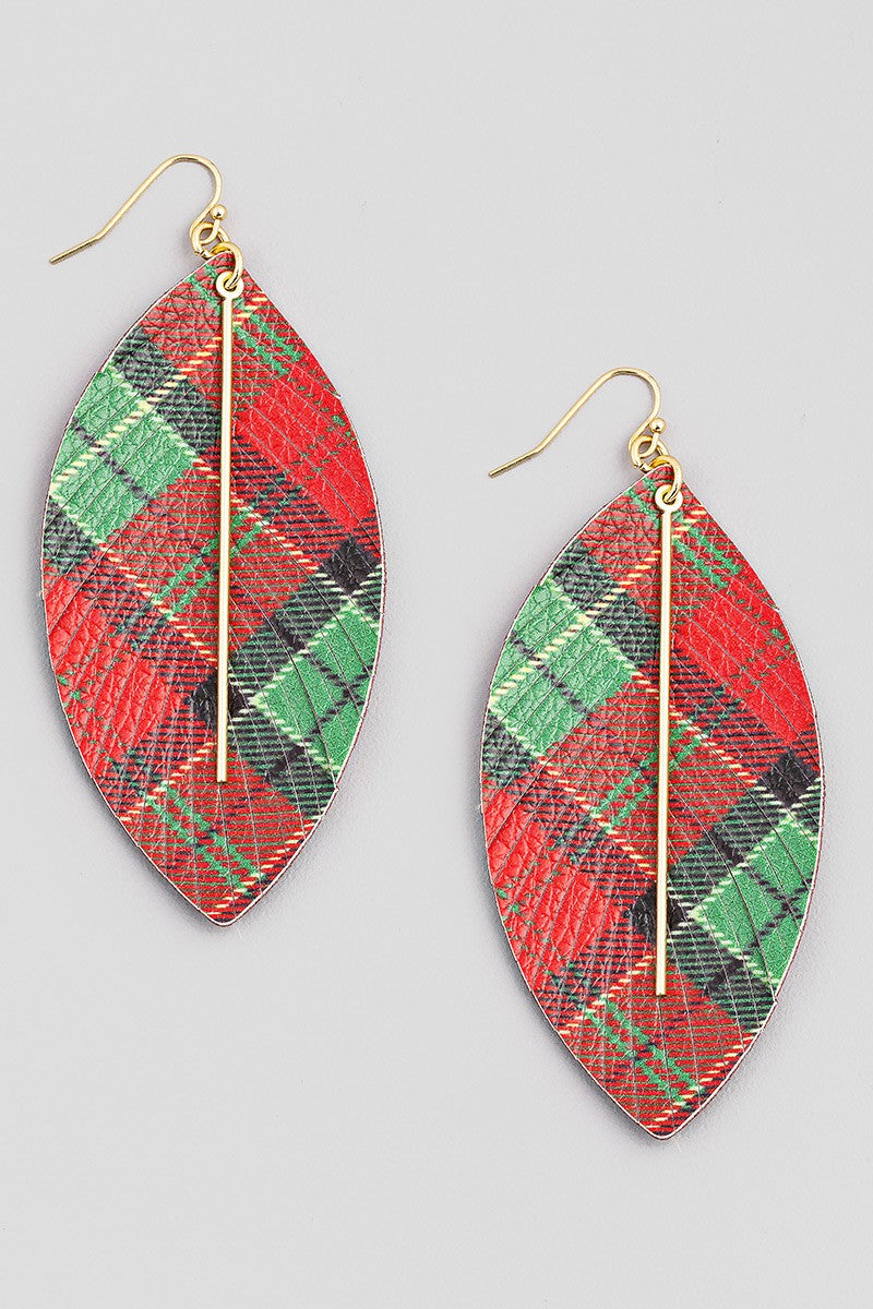 Christmas Plaid Earrings