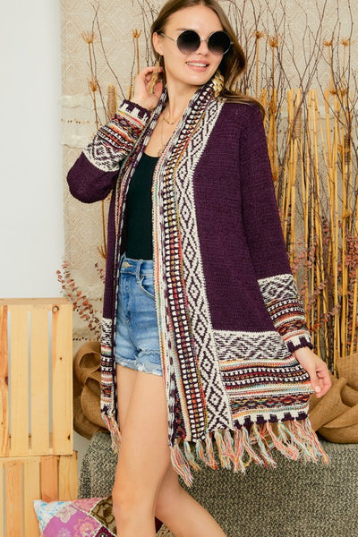 Tribal Fringe Sweater