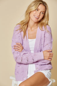 Dreams of Lavender Knit Cardigan