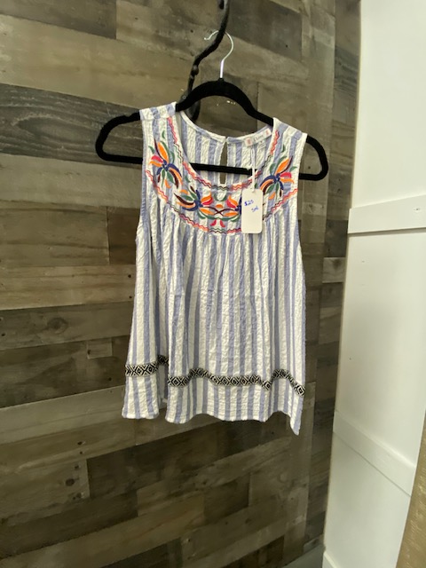 Baby Doll Tank with Embroidery