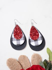 Glitter & Plaid layered Earrings