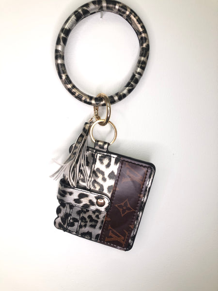 Upcycled Credit Card Holder Key Ring
