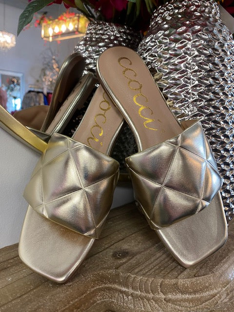 The Sofie Gold Sandals