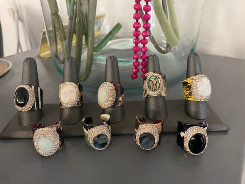 Beautiful Stone Rings w/diamonds