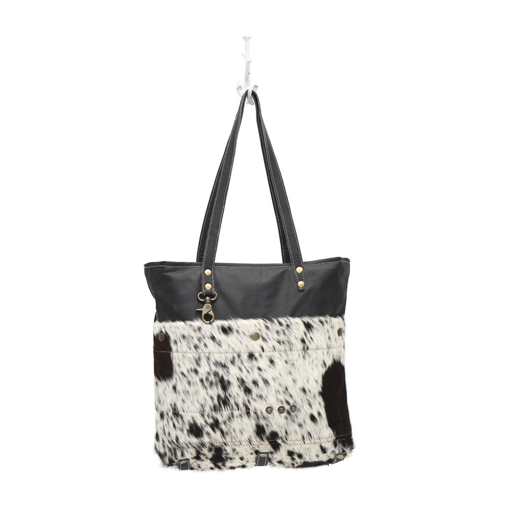 Myra Black Shades Hair-On Tote Bag