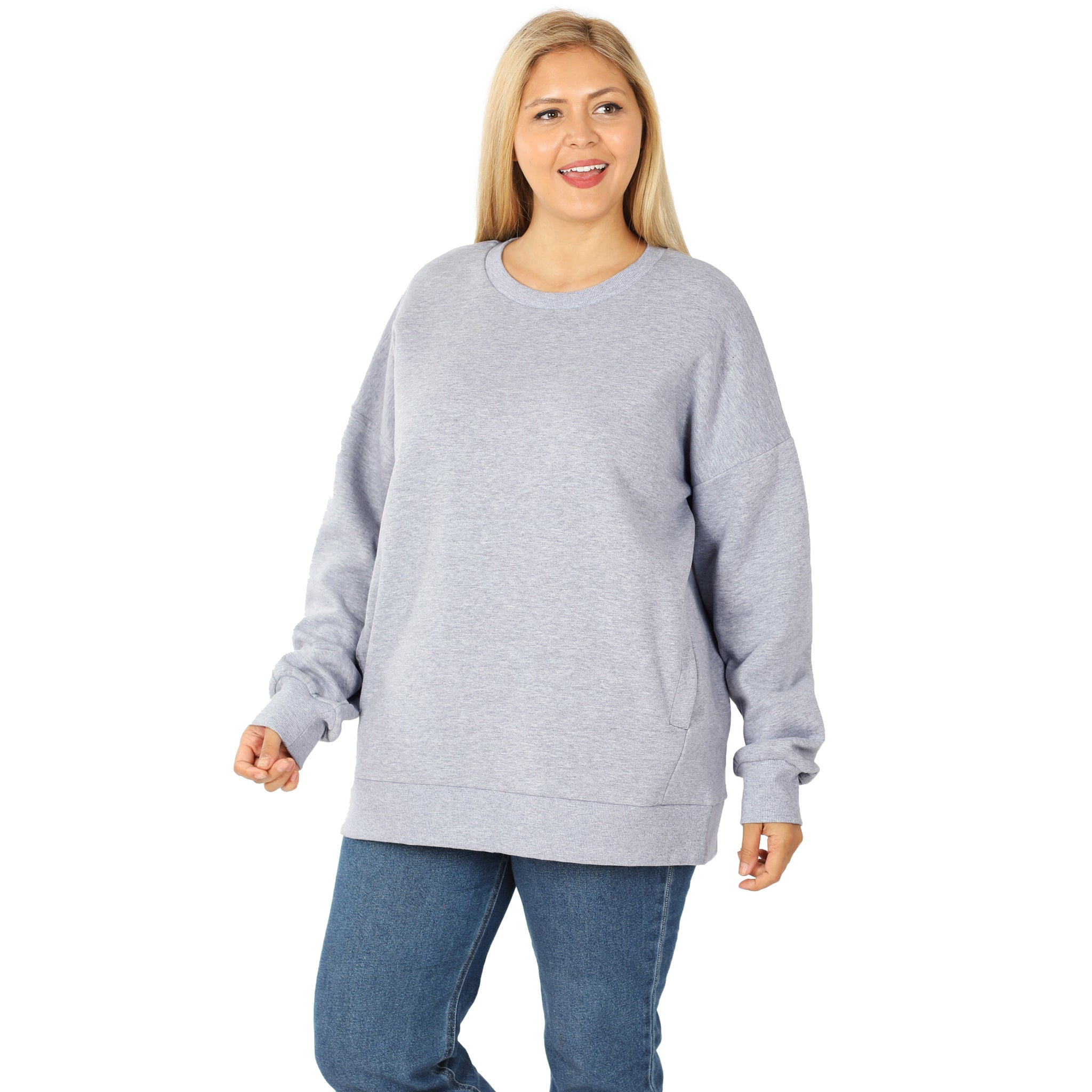 Abi's Round Neck Sweatshirt w/pockets