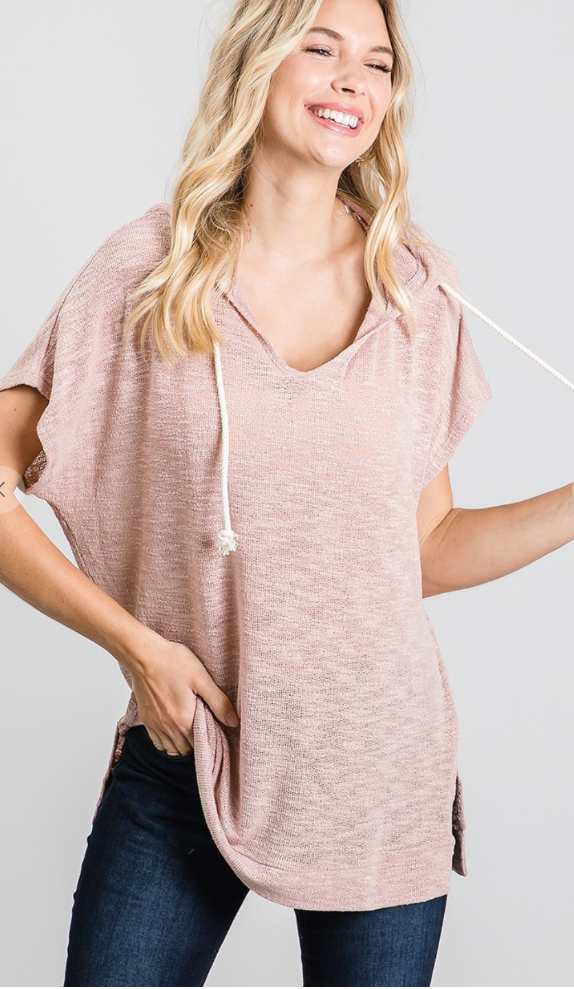 Blush Wonder Hood Top