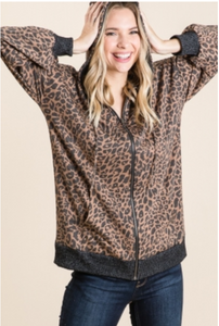 Wild About You Leopard Jacket