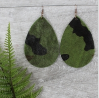 Camo Hide Earrings