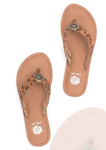 YELLOWBOX Cheetah Divity Flip Flops