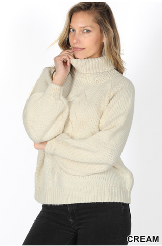 Chunky Monkey Turtleneck Sweater