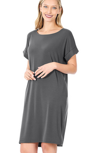 Coralee Grey Dress