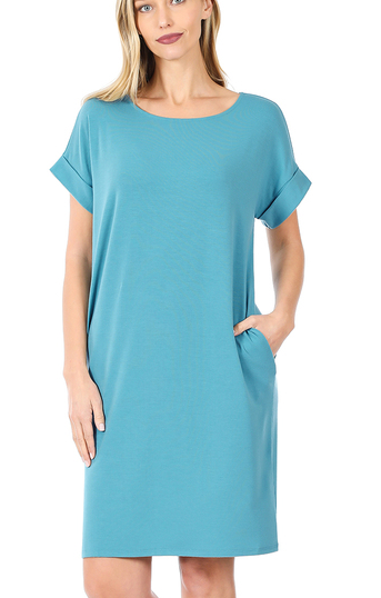 Coralee Teal Dress