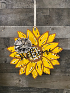 Welcome Sunflower Door Hang