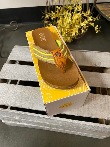 Yellow Box Flip Flops