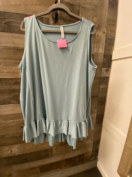 Cute Tank Top w/ Ruffle