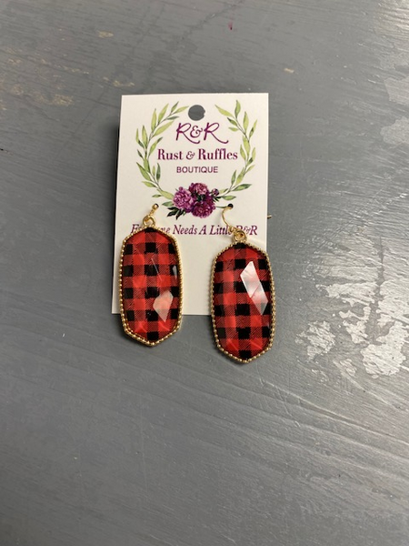It's so Plaid Drop Earrings
