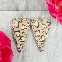 Heart Leopard Earrings